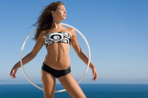 Young Woman with Hula Hoop