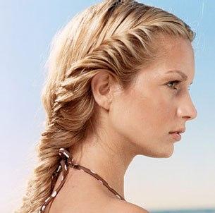0606_6 Как сделать косички на длинные волосы: Плетение французской косы