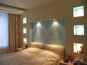 4-300x225 Как сделать в спальне нишу из гипсокартона?