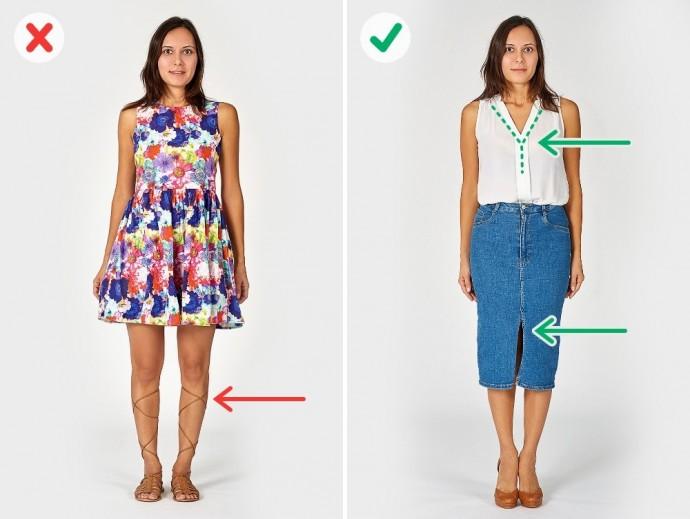 Как выглядеть стройнее при помощи одежды