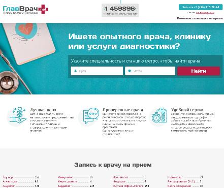 236 Glavvrach.net - найти врача и клинику рядом с домом - это легко